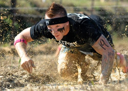 Test your limits during a mud run!