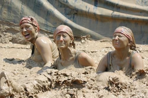 Have fun while partcipating in a mud run!